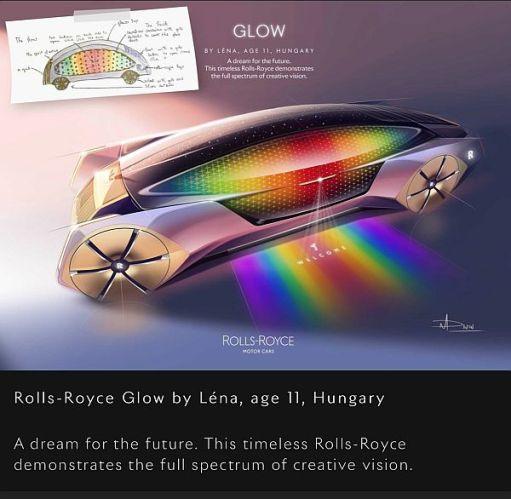 "Rolls-Royce ""Glow"" by Léna, age 11, Hungary."