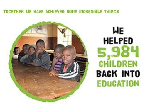 Railway Children: We helped 5,984 children back into education.