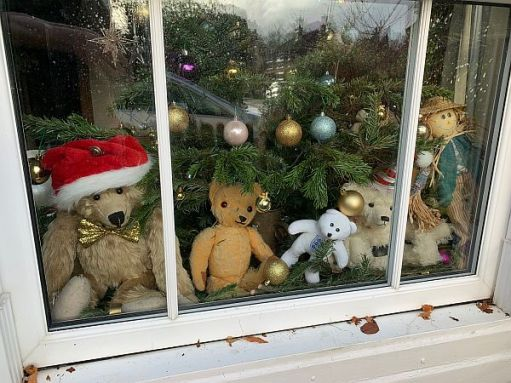 The Mindfully Bertie team in the window of Laurel Cottage.