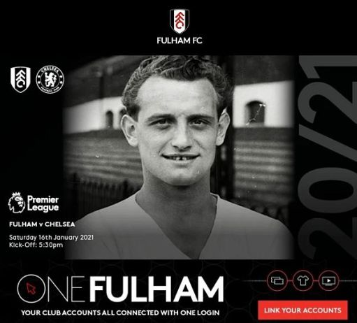 Tosh Chamberlain photographed on the cover of the Fulham v Chelsea programme 16 January 2021.