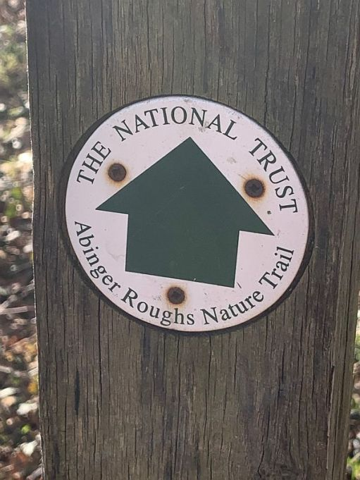 Abinger Roughs nature trail marker.