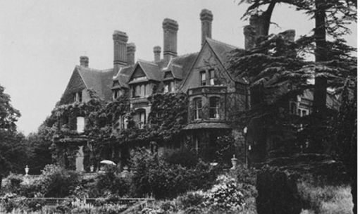 Black and white photograph of Abinger Hall.
