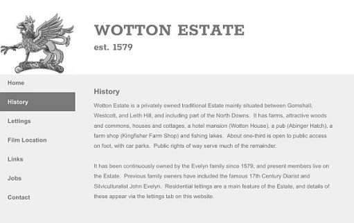 Click on this image to read about the history of the Wotton Estate.