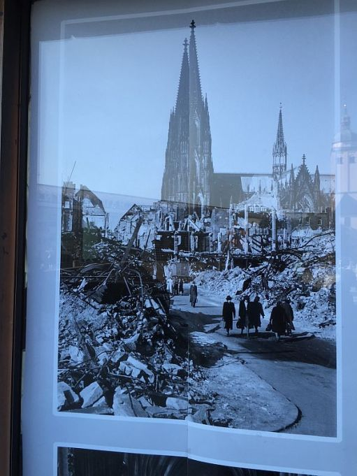 Like St Paul's, the cathedral survived the war and the bombing, which the rest of Cologne did not.