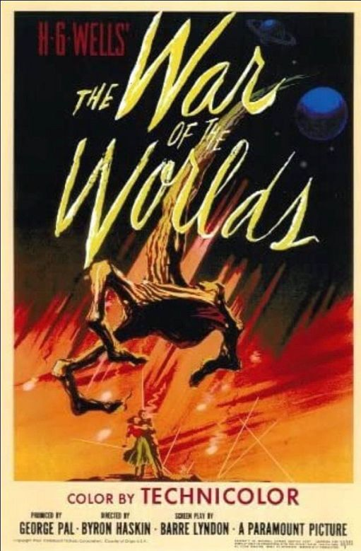 Cinema poster for War of the Worlds 1953.