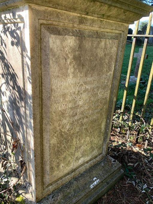 Tombstone in Wotton Church graveyard.