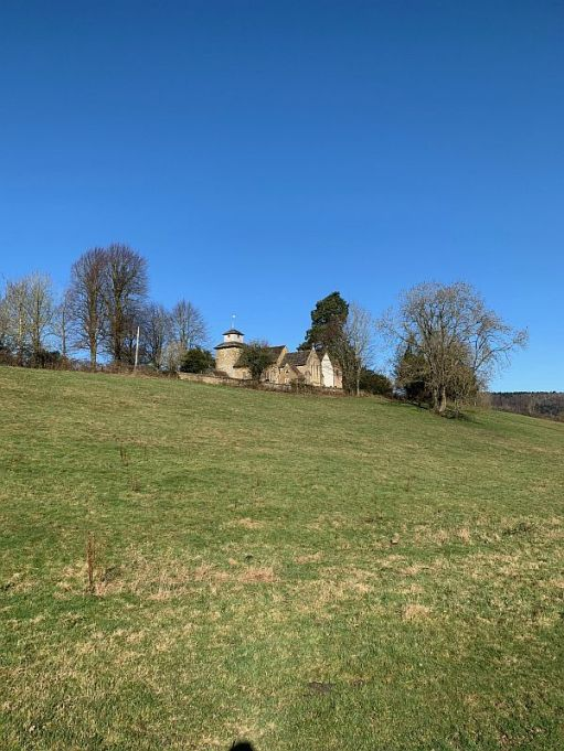 Wotton. The church on a hill.