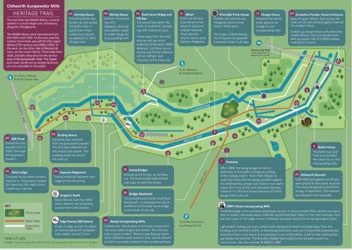 Chilworth Gunpowder Mills Heritage Trail Leaflet.