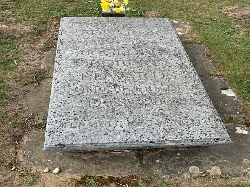 Sir George Edwards' grave today.