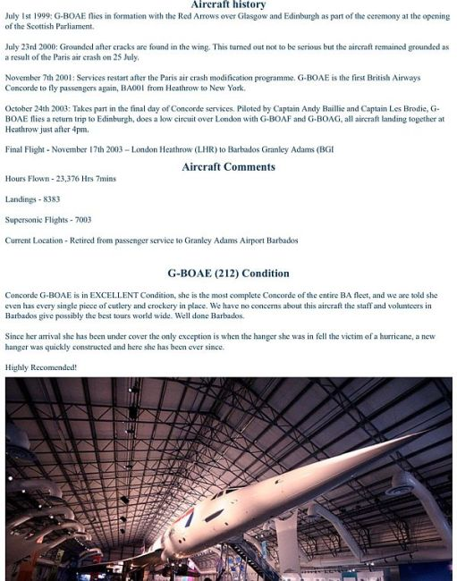 Record of G-BOAE. For text, click the link below.