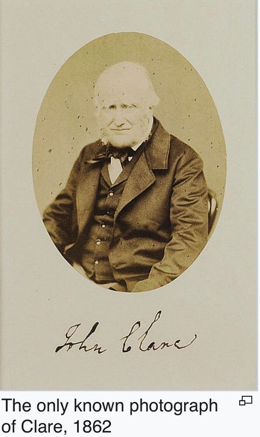 The only known photograph of John Clare, dated 1862.