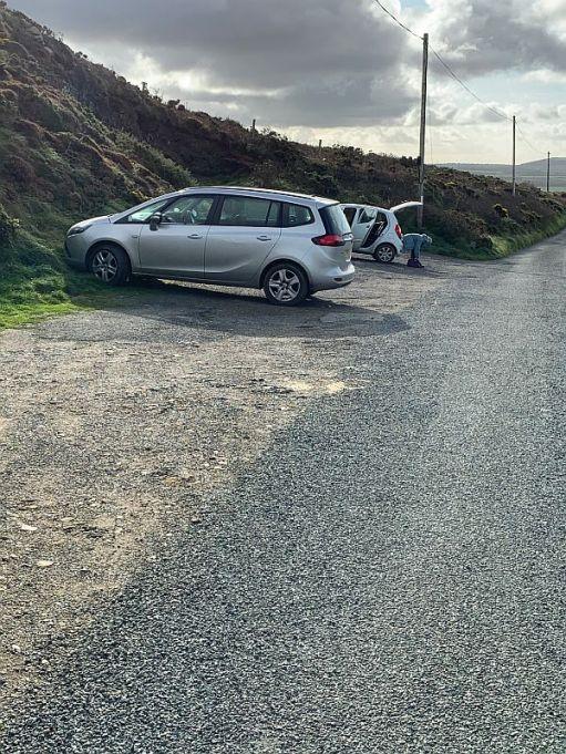 Car park at Strumble Head.