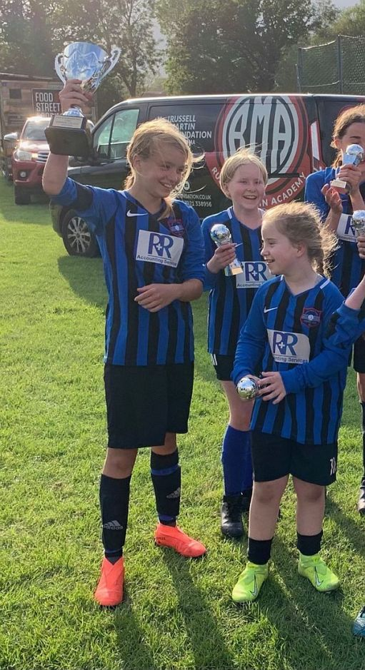 Daisy and Tilly. Goalscorer and penalty saver.