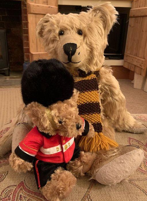 Bertie with new Guardsman Bear.