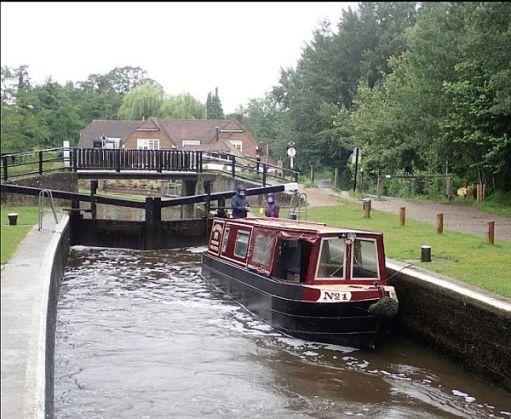 Pyrford Lock, Wey Navigation.