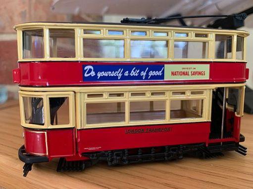 Bobby's London tram model.