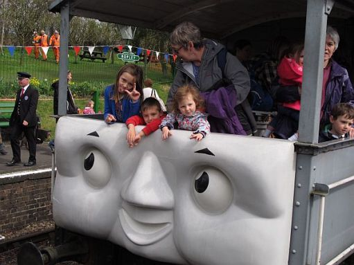 """Days out with Thomas. Layla, Sonny, Kyla & Diddley on board the """"Troublesome Truck"""". 2012."""