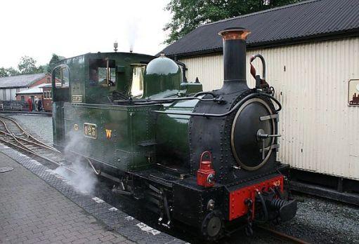 Locomotive 823 at Welshpool.