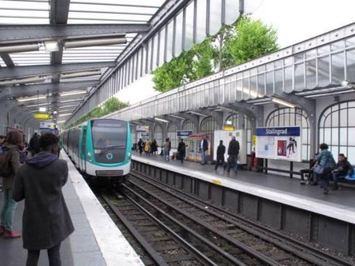 Stalingrad station on the Paris Metro.
