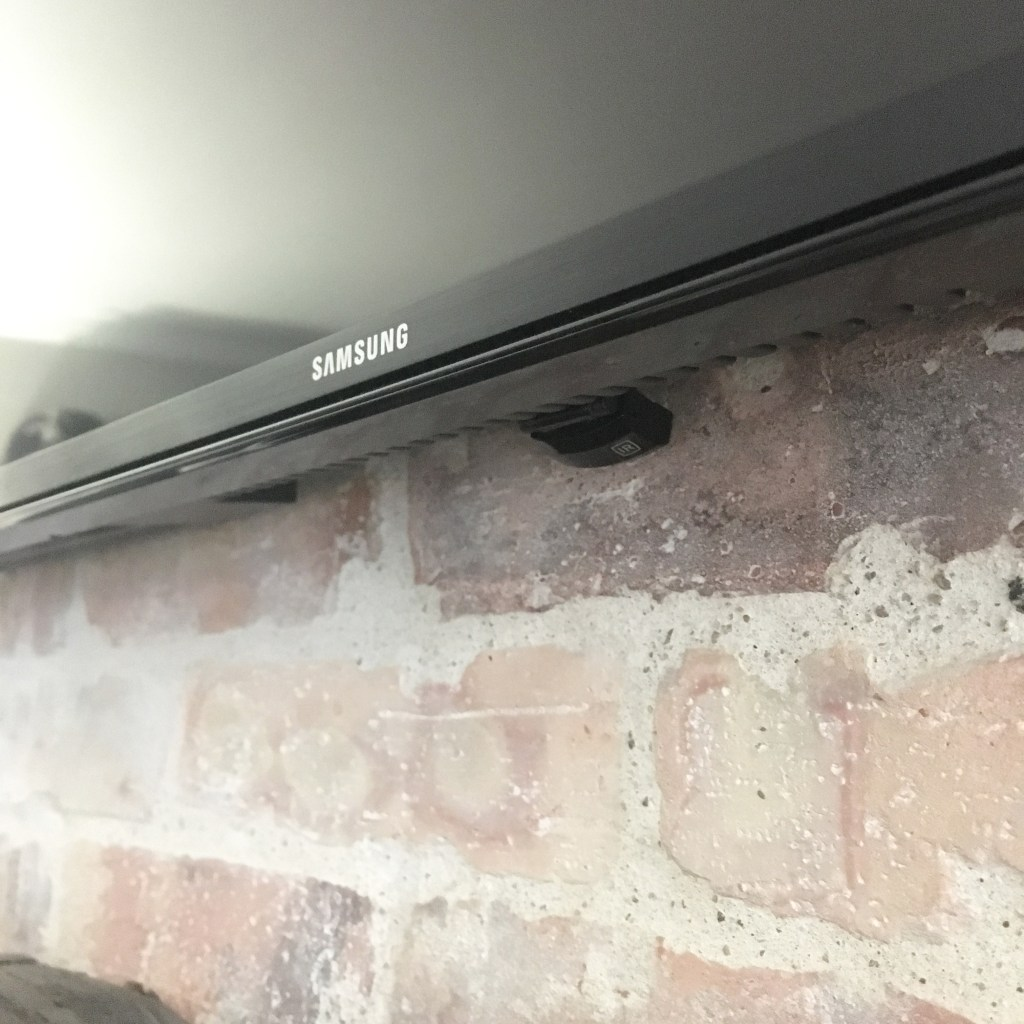How To Hide The Cable Box Mindfully Gray Wiring Through Walls And Ceilings We Decided Run Receiver From Back Of Tv Attic Down Into Ceiling My Closet This Same Radio Shack Device Would Work