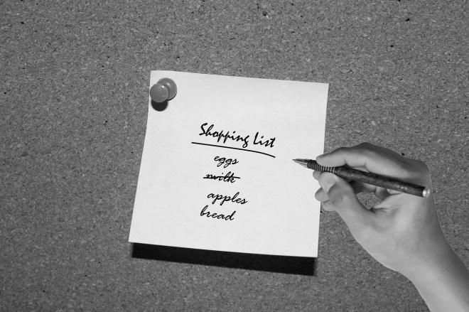 shopping list photo