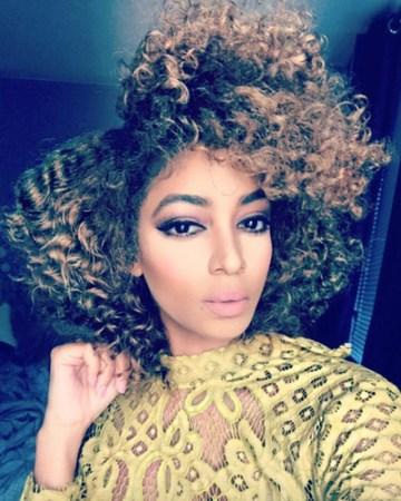 curls balayage