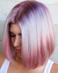 Pink pastellbalayage