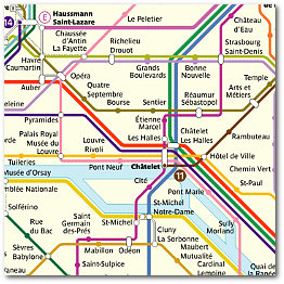 what is mind mapping Paris Metro colour