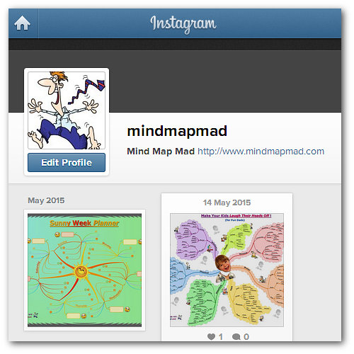 Mind Map Mad Instagram Page