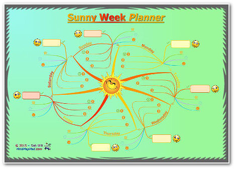 Mind Mapping for Personal Development Sunny Weekly Planner