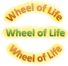 """wheel of life coaching tool"" logo"