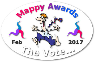 """mappy awards"" The Vote ""mind map mad"" badge"