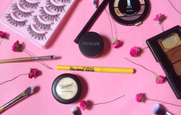 mind of amaka, pink flatlay, pinterest flatlay, makeup flatlay, focallure aliexpress, aliexpress makeup, aliexpress lashes, aliexpress brushes