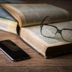 life balance book vs. smartphone