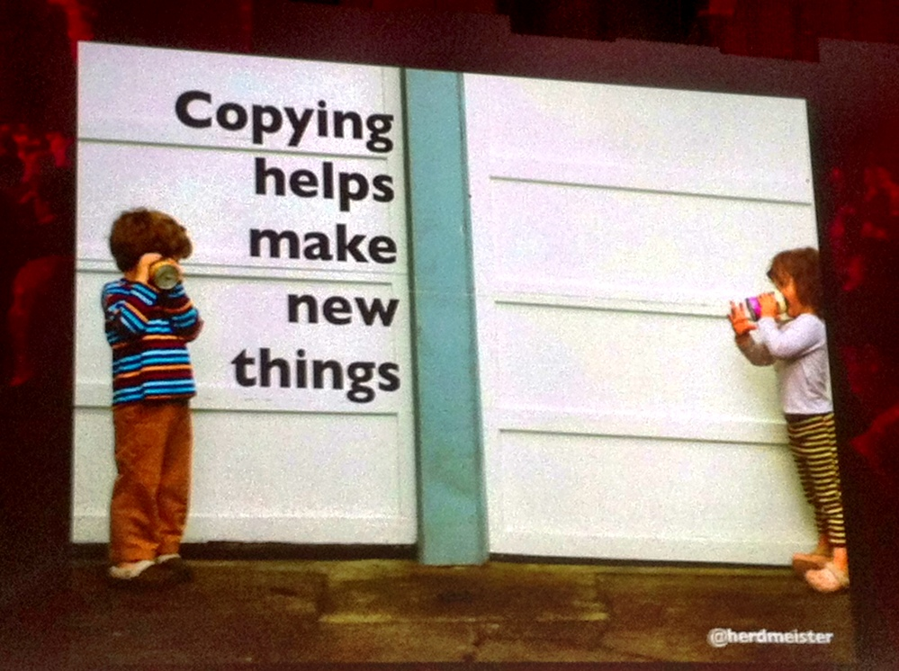 Copying helps make new things