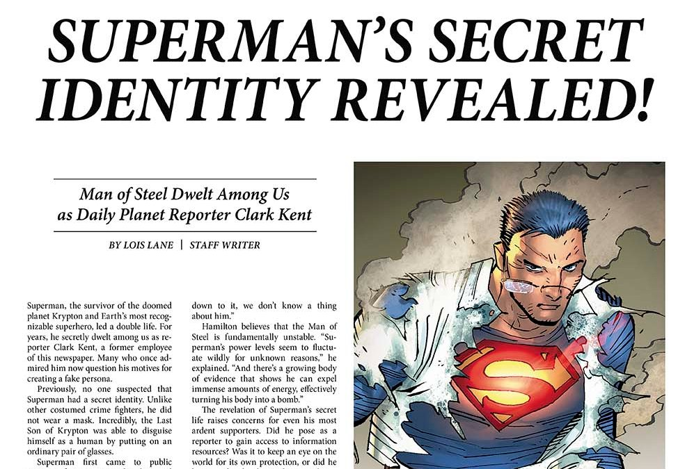 Lois Lane offenbart im Daily Planet die wahre Identität von Superman!