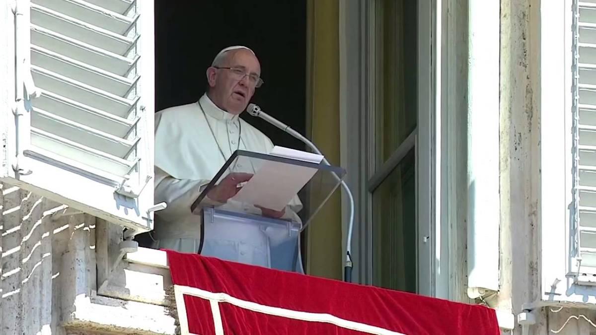 Papst Franziskus hält eine wortlose Rede