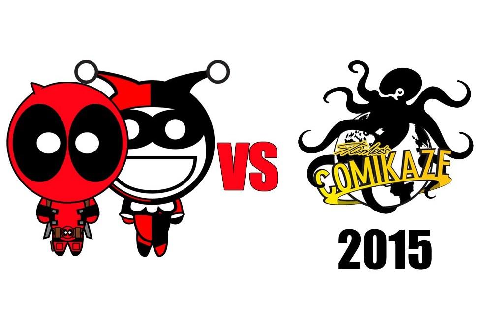 Deadpool und Harley Quinn auf der Comikaze Expo 2015