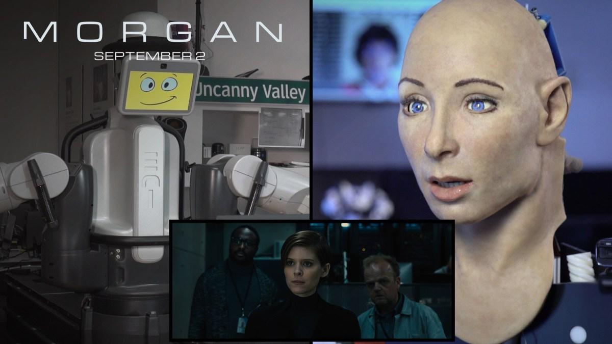 """Echte Roboter reagieren auf den Trailer von """"Morgan"""", dem Film über ausrastende KI"""
