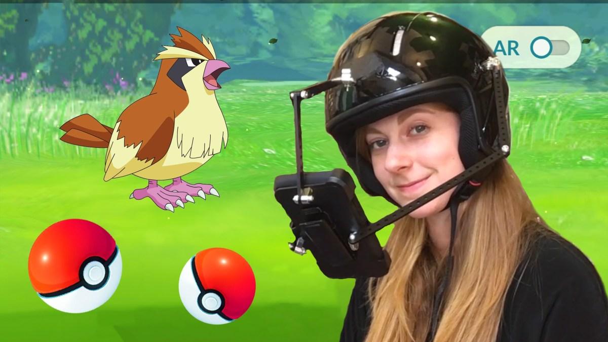 Simone Giertz erfand der Welt ersten Pokémon Go Helm!