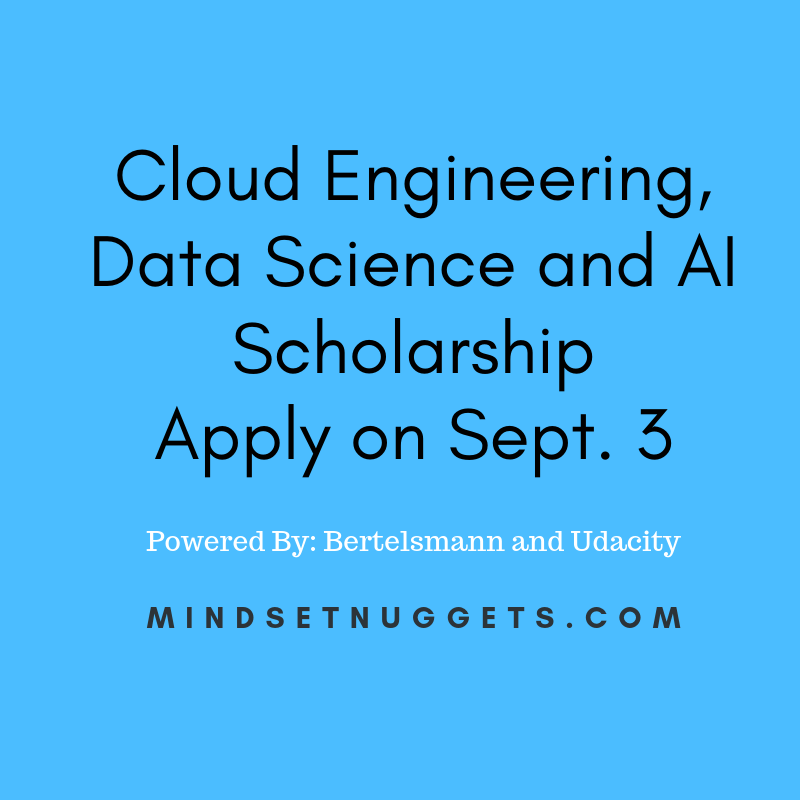 Bertelsmann Scholarships in Areas of Cloud, Data and AI
