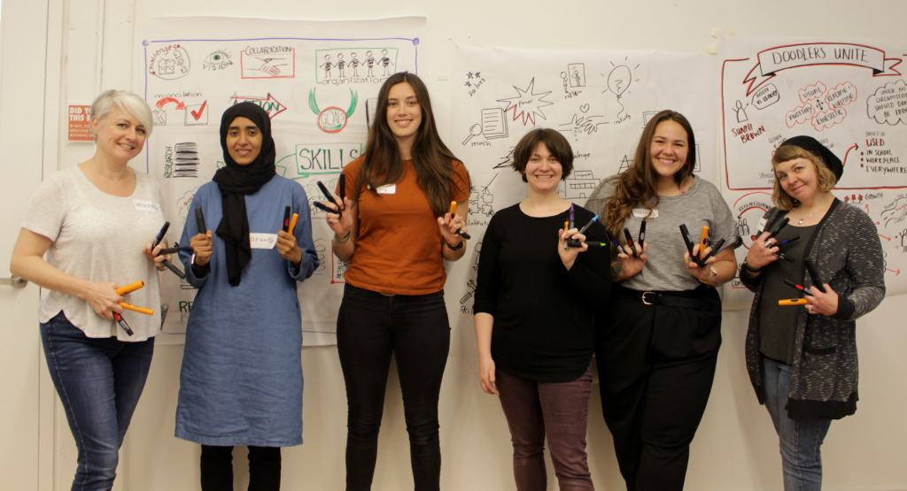 Group photo from graphic recording 101 Workshop in Toronto