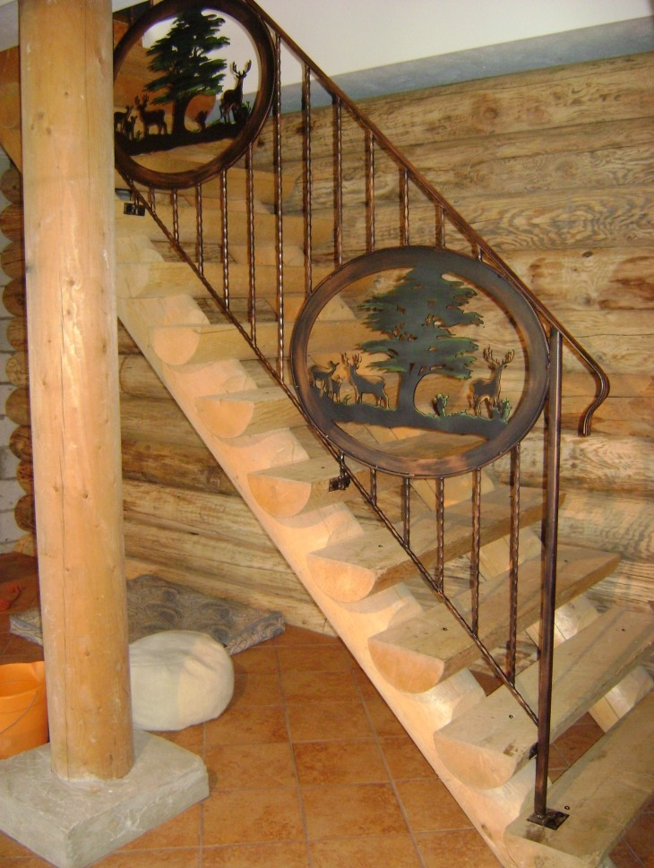 Forest Rustic Railing Mind S Eye Metal Art   Rustic Banisters And Railings   Industrial   Unusual   Balcony   Custom   Barn Style