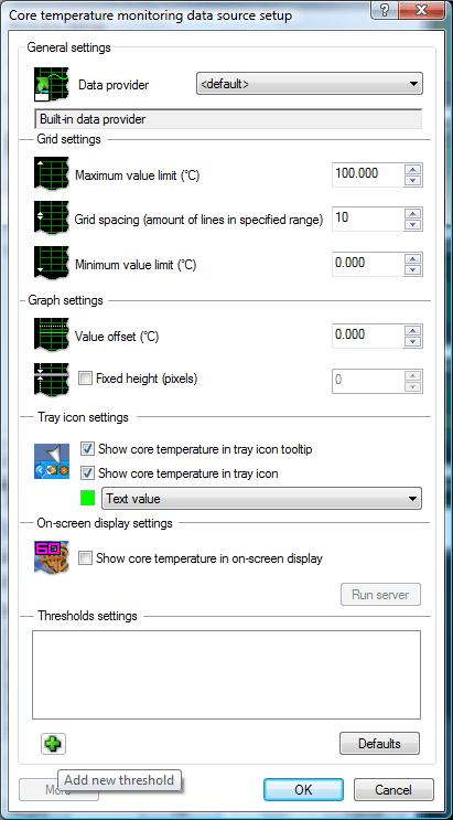 Click the Add new threshold (plus) button