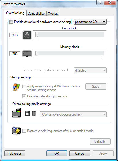 Click the Enable driver-level... checkbox