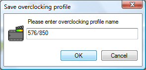 Enter the name of the overclocking profile (ex: Core/Memory)
