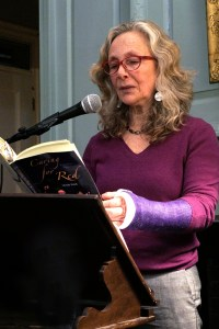 Book talk with Chapter & Verse, Loring Greenough House (with broken arm!)