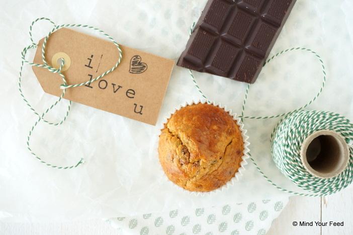 havermoutmuffins met chocola