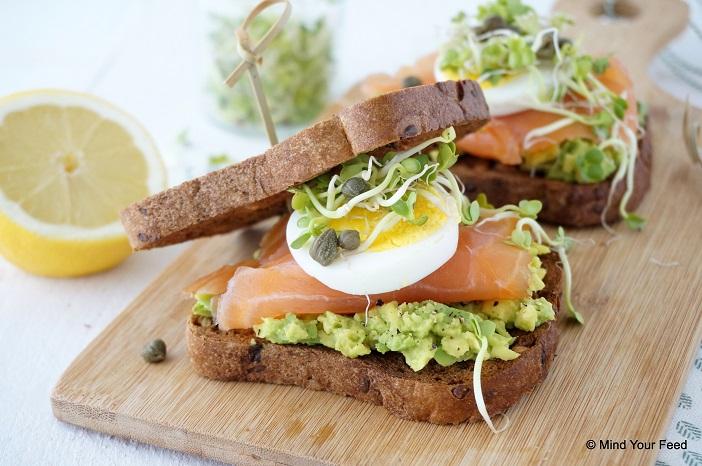 Sandwich Met Zalm En Avocado Mind Your Feed