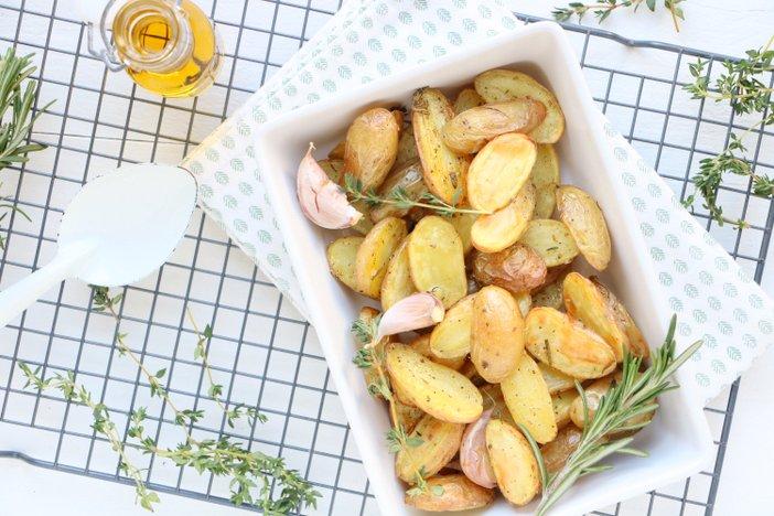 Italiaans geroosterde aardappels
